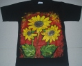 T-Shirt Sun Flower 3 Kuntum_Black_M
