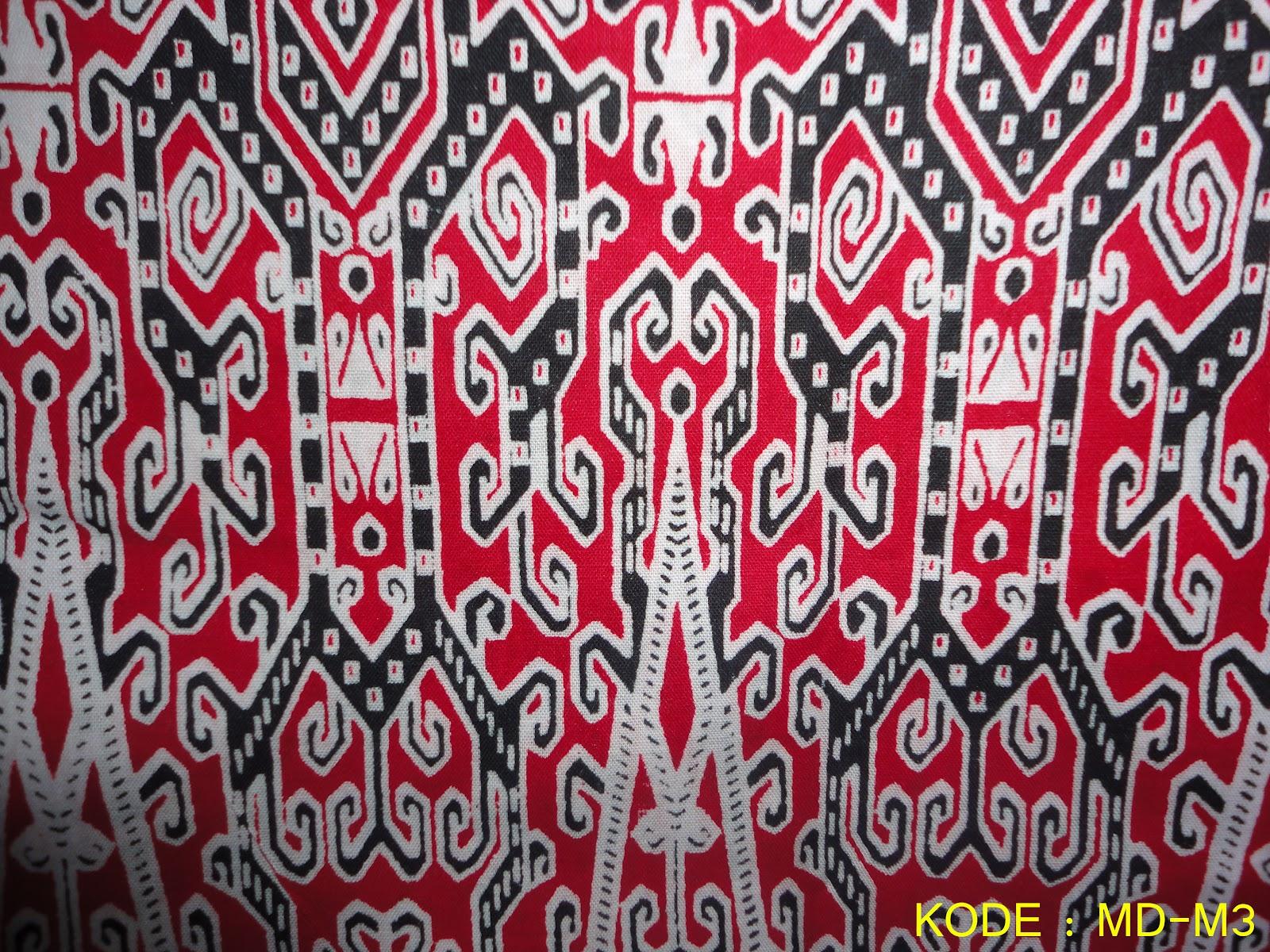 Berikut gambar-gambar Koleksi Kain Batik Motif Dayak :